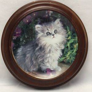 Purrfection Franklin Mint Nancy Matthews Cat Plate